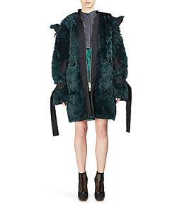Sacai | Hooded Fur Coat