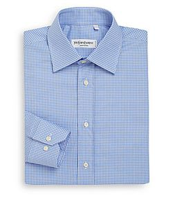 Saint Laurent | Gingham Dress Shirt