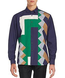 Salvatore Ferragamo | Geometric Printed City-Fit Shirt