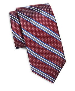 Saks Fifth Avenue | Striped Spotted Silk Tie