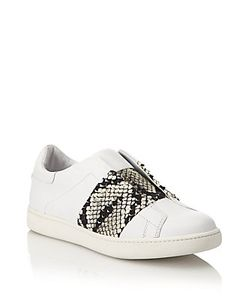 Vince | Vista Lizard-Print Laceless Leather Sneakers