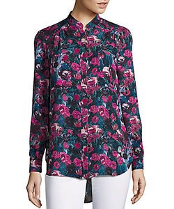 Haute Hippie | Printed High-Low Hem Shirt