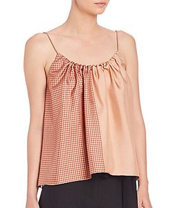 Helmut Lang | Pieced Scarf-Print Silk Camisole Top