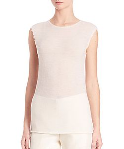 Helmut Lang | Raw-Edged Cashmere Tee