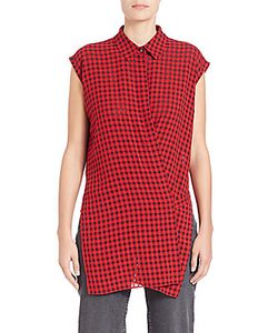 Alexander Wang | Point Collar Checked Top