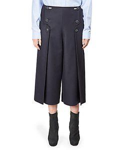 Alberta Ferretti   Pleated Flannel Culottes