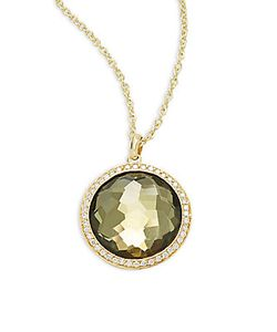 Ippolita | Diamond Citrine Pyrite 18k Pendant Necklace