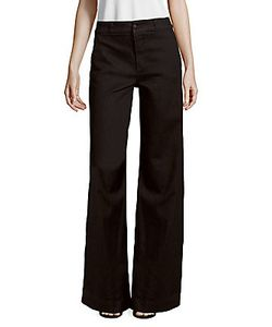 J Brand | Melody High-Rise Cotton-Blend Wide-Legged Pants