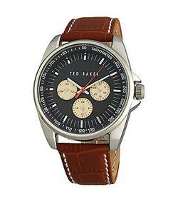 Dolce & Gabbana   Leather Strap Tachometer Watch