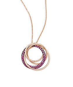 Effy | Ruby Diamond 14k Pendant Necklace