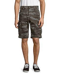 Jetlag   Camo-Print Cotton Shorts