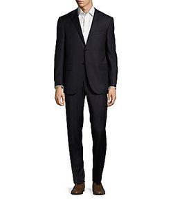 Corneliani | Virgin Wool Cashmere Striped Suit
