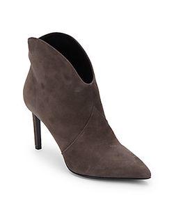 Saint Laurent | Point Toe Suede Ankle Boots