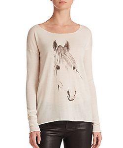 Tess Giberson | Silk/Wool/Cashmere Horse-Print Sweater