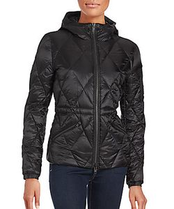 The Kooples | Quilted Long Sleeve Hooded Jacket