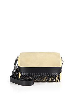 3.1 Phillip Lim | Bianca Small Two-Tone Fringed Leather Suede Crossbody Bag
