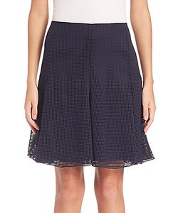 Akris | Grid Mesh Flounce Skirt