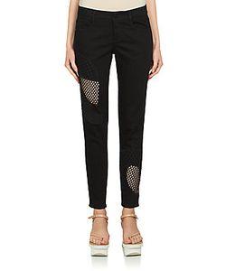 Stella McCartney | Mesh Inset Skinny Ankle Grazer Jeans