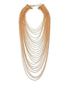 A.B.S. By Allen Schwartz | Multi-Row Draped Ball Chain Necklace