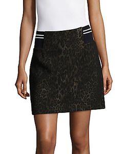 Sandro | Printed Cotton-Blend Skirt