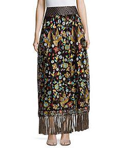 Alice + Olivia | Kamryn Embroidered Skirt