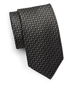 Saks Fifth Avenue | Textured Metallic Silk Tie