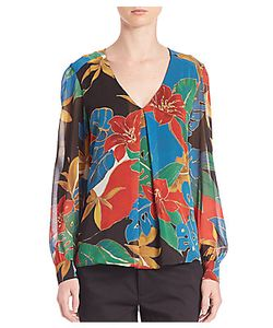 Alice + Olivia | Floral Long Sleeve Blouse
