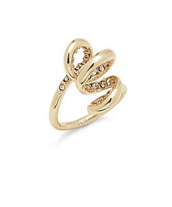 Alexis Bittar | 10kplated Crystal Spiral Ring