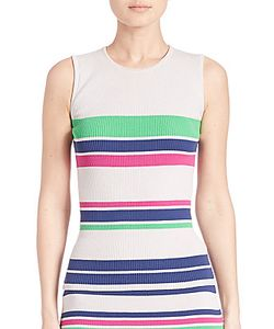 Tanya Taylor | Striped Rib-Knit Tank Top