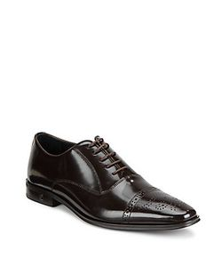 Versace Collection | Spazzolato Leather Oxford Shoes