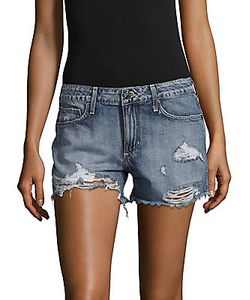 Hidden Jeans   Distressed Denim Shorts