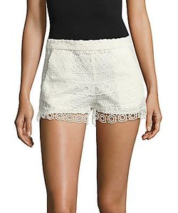 French Connection   Castaway Stripe Lace Shorts