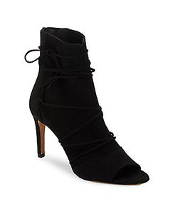 Vince | Adisa Leather Lace-Up Booties