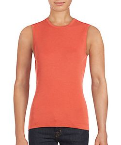 Carolina Herrera | Crewneck Cashmere Silk Tank Top