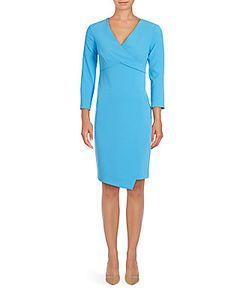Shoshanna   Bentley V-Neck Wrap Dress