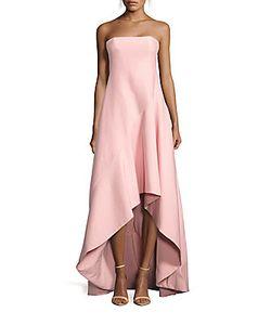 Halston | Strapless Ball Gown