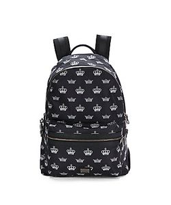 Dolce & Gabbana | Crown Print Leather Backpack