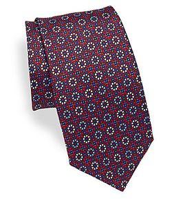 Saks Fifth Avenue | Floral Silk Tie