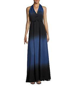 Halston | Belted Halterneck Gown