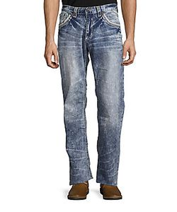 Affliction | Cooper V Cotton-Blend Jeans