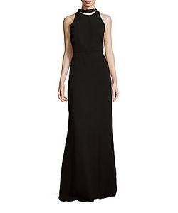 Halston | Sleeveless Open Back Gown