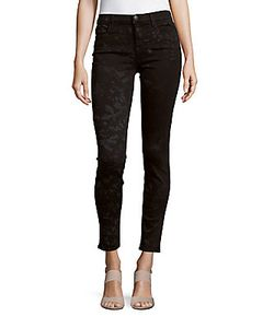 J Brand | Mid-Rise Super-Skinny Cropped Jeans