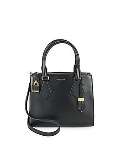 Michael Kors Collection | Leather Open-Top Satchel