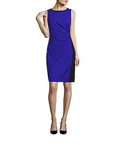 T Tahari   Marianna Two-Tone Sheath Dress