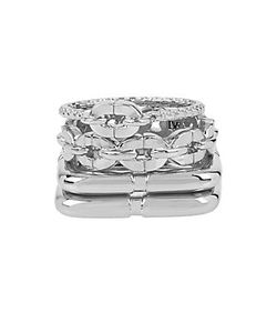 Diane von Furstenberg | Metal Chain Links Ring Set