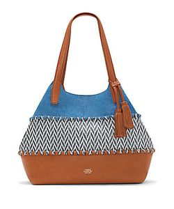 Vince Camuto | Edena Patterned Leather Tassel Tote