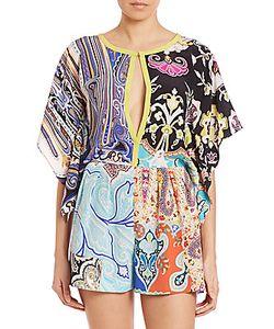 Etro | Printed Silk Short Jumpsuit