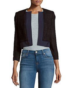Carolina Herrera | Cropped Open Front Silk Jacket