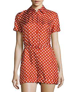 Carven | Short-Sleeve Silk Jumpsuit