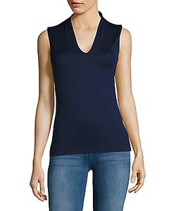 Akris | V-Neck Cotton-Blend Top